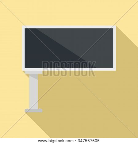 Street Billboard Icon. Flat Illustration Of Street Billboard Vector Icon For Web Design
