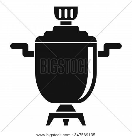 Metal Samovar Icon. Simple Illustration Of Metal Samovar Vector Icon For Web Design Isolated On Whit