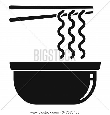 Noodle Bowl Icon. Simple Illustration Of Noodle Bowl Vector Icon For Web Design Isolated On White Ba