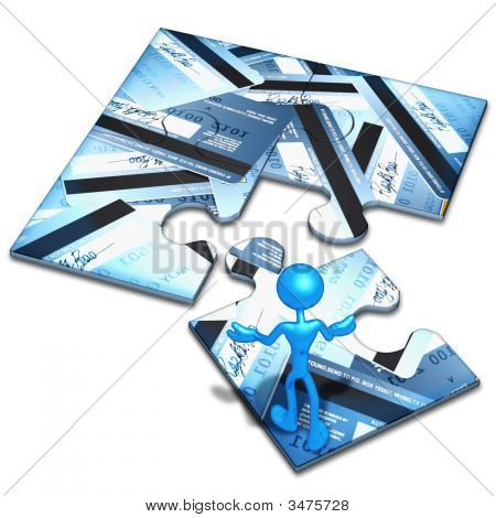 Kreditkarte Konzept puzzle
