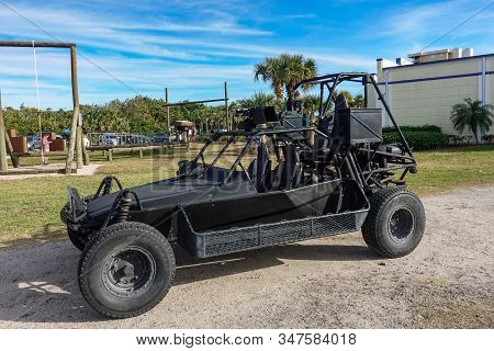 Ft. Pierce,fl/usa-1/27/20: A Land Special Operations Assault Vehicle Used By Navy Seals In Combat.