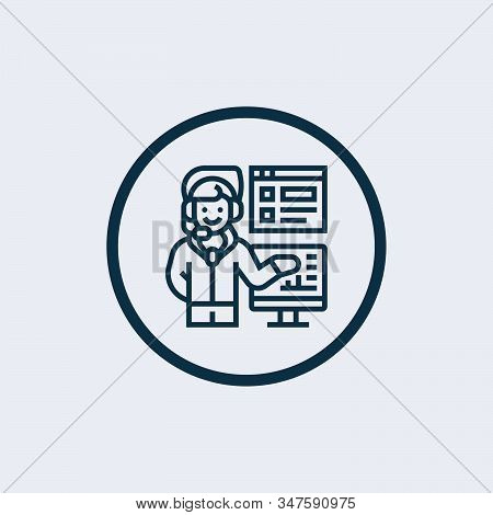Coach Icon Isolated On White Background. Coach Icon Simple Sign. Coach Icon Trendy And Modern Symbol