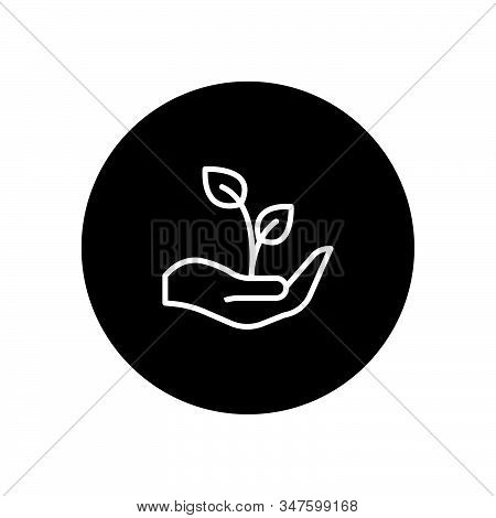 Growth Icon Isolated On Black Background. Growth Icon In Trendy Design Style. Growth Vector Icon Mod