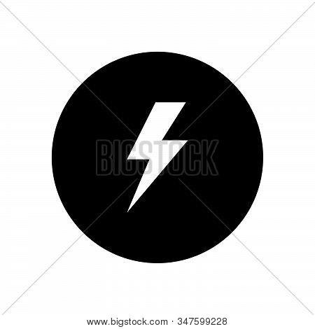 Lightning Icon Isolated On Black Background. Lightning Icon In Trendy Design Style. Lightning Vector