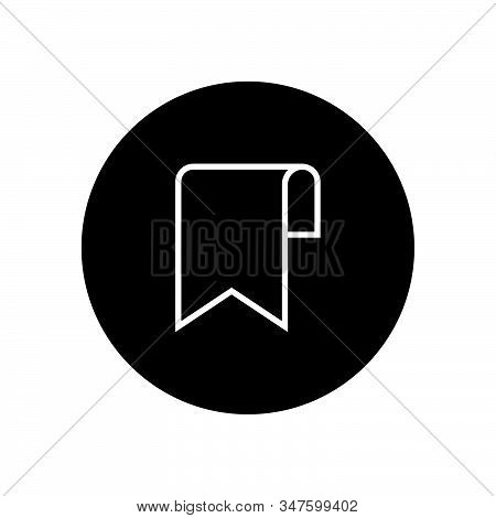 Bookmark Icon Isolated On Black Background. Bookmark Icon In Trendy Design Style. Bookmark Vector Ic