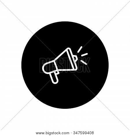 Megaphone Icon Isolated On Black Background. Megaphone Icon In Trendy Design Style. Megaphone Vector