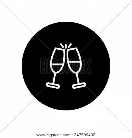 Cheers Icon Isolated On Black Background. Cheers Icon In Trendy Design Style. Cheers Vector Icon Mod