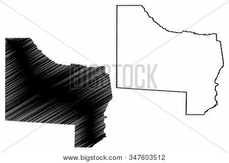 Kavango West Region (regions Of Namibia, Republic Of Namibia) Map Vector Illustration, Scribble Sket