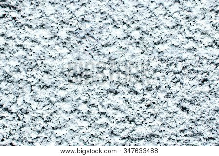 White Stucco Wall Texture. Plaster Decorative Pattern. Abstract Shape Industrial Wall. Uneven Stucco