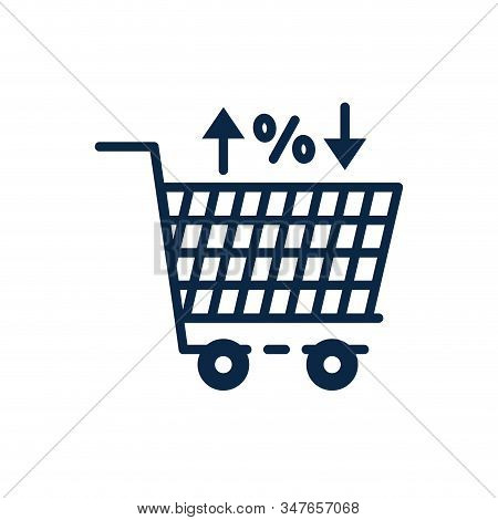 Shopping Cart Design Of Commerce Market Store Shop Retail Buy Paying Banking And Consumerism Theme V