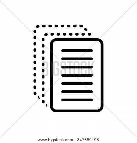 Black Line Icon For Paperless Cardboard Disposable Insubstantial Paper-thin Papery Wafer-thin Paperf