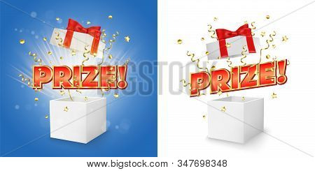 Prize Gift Box Vector Concept For Banner, Poster