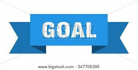 Goal Ribbon. Goal Isolated Sign. Goal Banner
