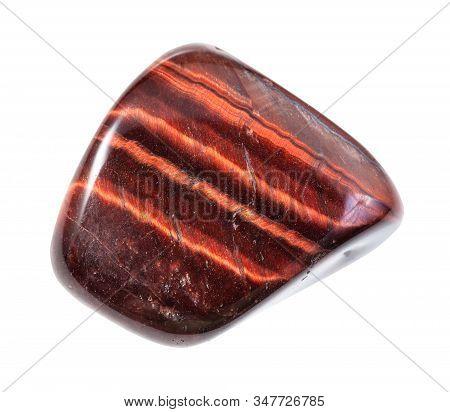 Polished Ox's Eye (bull's Eye) Gem Stone Isolated