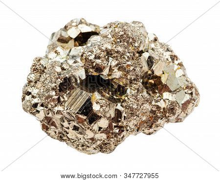 Raw Crystalline Pyrite (fools Gold) Stone Isolated