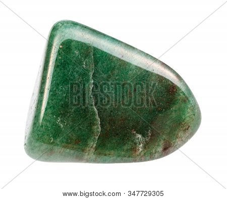 Closeup Of Sample Of Natural Mineral From Geological Collection - Polished Green Aventurine Gemstone