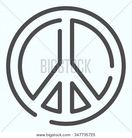 Pacifism Line Icon. Peace Symbol Vector Illustration Isolated On White. Sign Pacifist Outline Style