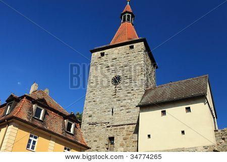 The Nuremberg goal in Neustadt Aisch in the summer time