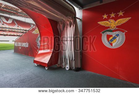 Lisboa, Portugal - April 2018: Exit On To The Grounds At Estadio Da Luz - The Official Playground Of