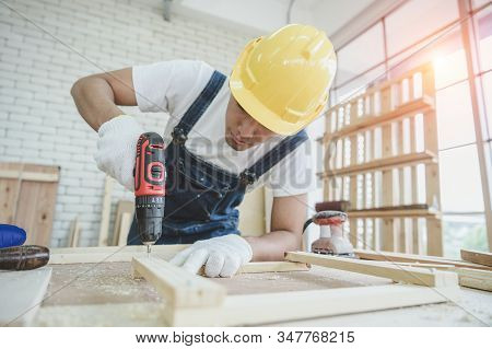 Carpenters Tools Background. Old Fashioned Rusty Carpenters Tools Lying Under Wooden Tile Boards Com