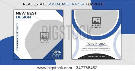 Furniture social media post templates, adventure banner promotion for social media template,yellow social media post template, Real Estate Social Media Post Template, Social Media Banners, Elegant of Real Estate or Home Sale Social Media Promotion, Square