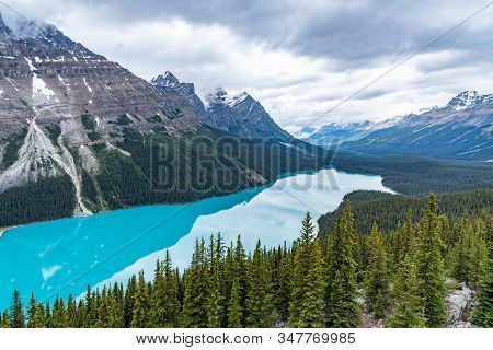Beautiful View Of Peyto Lake Alberta, Canada