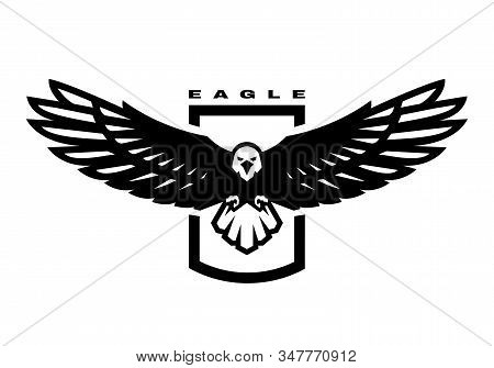 American Eagle. Flying Bird Logo, Emblem. Vector Illustration.