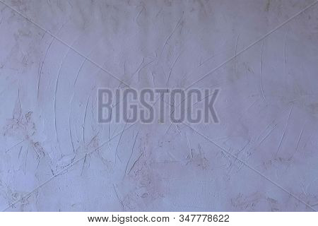 Fresh Concrete Wall On Construction Site. Grey Wall With Plaster Texture, Process Of Construction Re