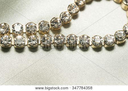 Gold Bracelet With Cubic Zirconia