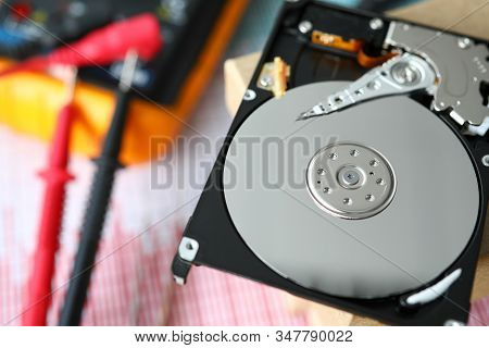 Repair Hard Drives, Development Circuitry Hardware. Calculation Parameters Components Circuit And Th