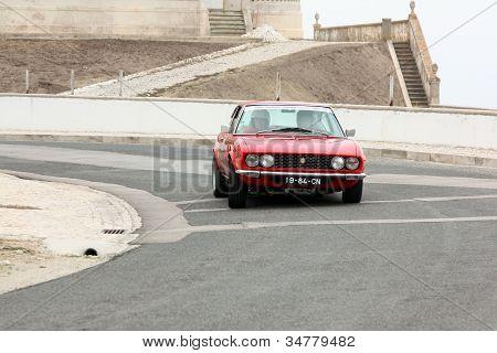Foz Do Arelho, Portugal - May 13: Luis Santos Drives A Fiat Dino Coupe During Rally Sprint Foz Do Ar