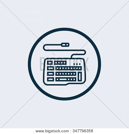Keyboard Icon Isolated On White Background From Hardware Collection. Keyboard Icon Trendy And Modern