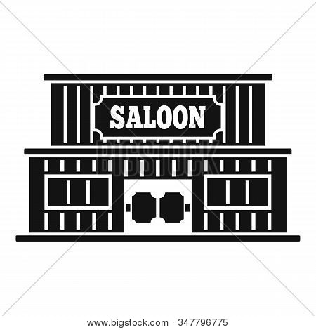 Western Saloon Icon. Simple Illustration Of Western Saloon Vector Icon For Web Design Isolated On Wh