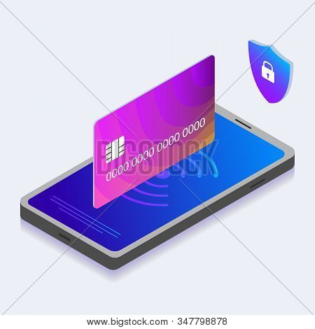 Mobile Money Payment, Online Banking And Digital Shopping Concept With Smartphone, Nfc Payment And C