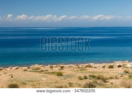 Lake Issyk-kul, Kyrgyzstan, The Largest Lake In Kyrgyzstan, South Shore Of The Lake