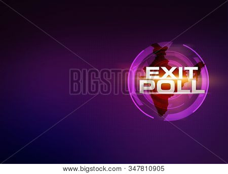 Exit Poll, Election India Background Illustration, Exit Poll, India General Election Abstract Backgr