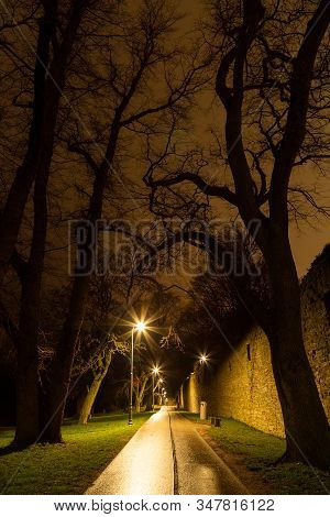 Trian Walkway By Town Wall In Visby, Gotland, Sweden.