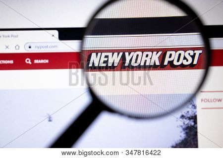 Los Angeles, California, Usa - 25 January 2020: New York Post Website Page In Browser On Laptop Scre