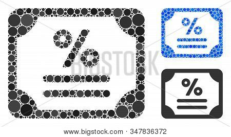 Bond Composition Of Round Dots In Variable Sizes And Color Tones, Based On Bond Icon. Vector Round D