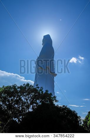 Tallest White Statue Of Guan Yin The Goddess Of Mercy And Compassion In The Buddhist Religion
