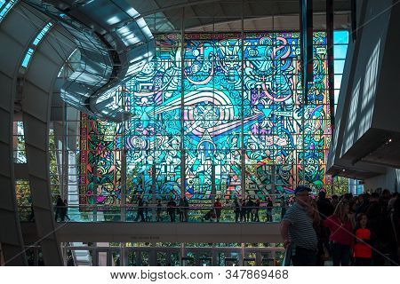 Artprize - Grand Rapids, Mi /usa - October 10th 2016: Giant Stained Glass Display During Artprize 8