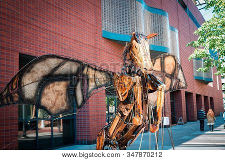 Artprize - Grand Rapids, Mi /usa - October 10th 2016: Metal Pegasus Statue On Display On The Street