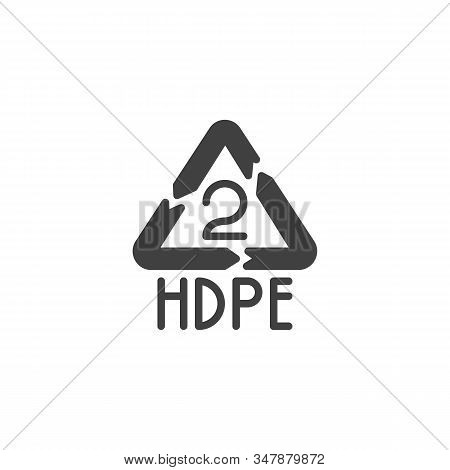 High-density Polyethylene Vector Icon. Filled Flat Sign For Mobile Concept And Web Design. Hdpe 2, I