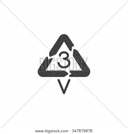 Polyvinyl Chloride Vector Icon. Filled Flat Sign For Mobile Concept And Web Design. V 3, Industrial