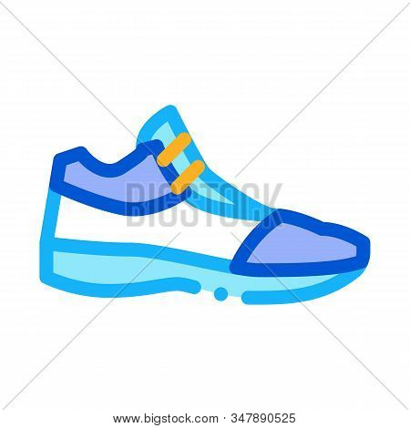 Volleyball Shoes Sneakers Icon Vector. Outline Volleyball Shoes Sneakers Sign. Isolated Contour Symb