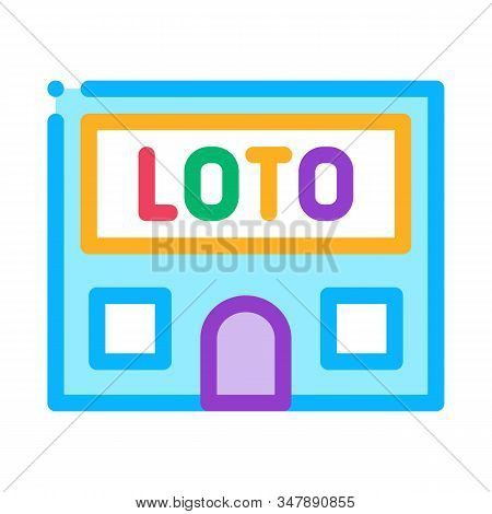 Lotto House Icon Vector. Outline Lotto House Sign. Isolated Contour Symbol Illustration