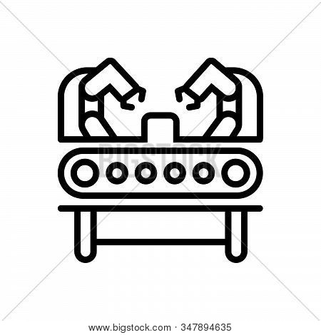 Black Line Icon For Machinery-production Industry Automotive Machinery Technology Electrical Manipul