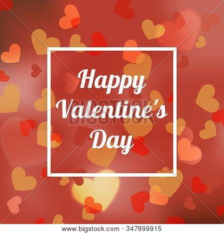 Happy Valentines Bokeh Background Vector