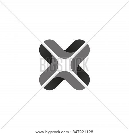 X Letter Logo Monogram Design Element Typeface Type Vintage Sign Emblem Typeset Combination Luxury C