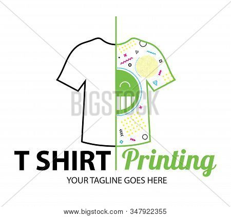 Abstract Modern Colored Vector Logo Template Of T-shirt Printing. For Typography, Print, Corporate I